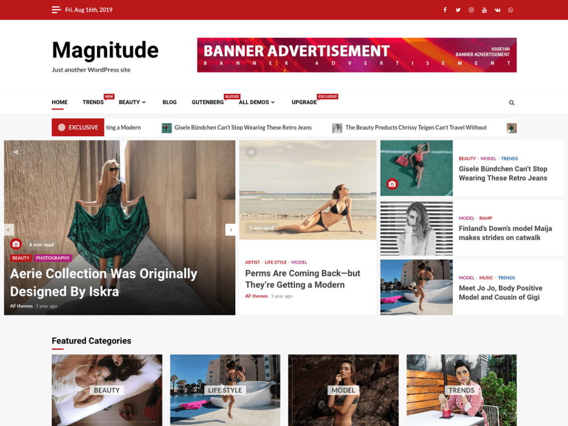 magnititude WordPress theme