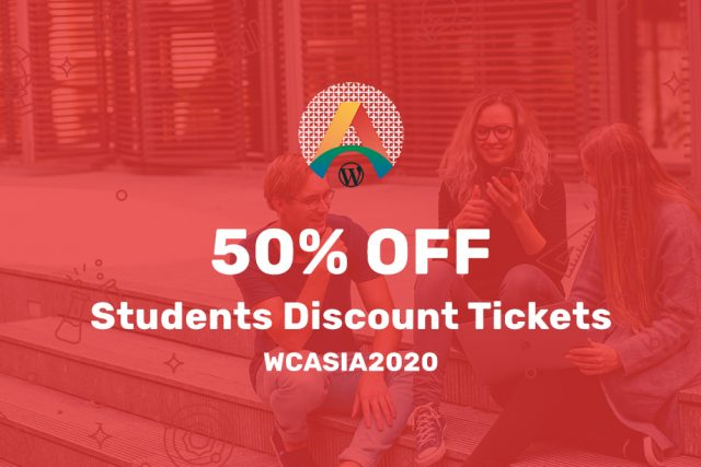 Student Discount Tickets to WordCamp Asia 2020 Available!
