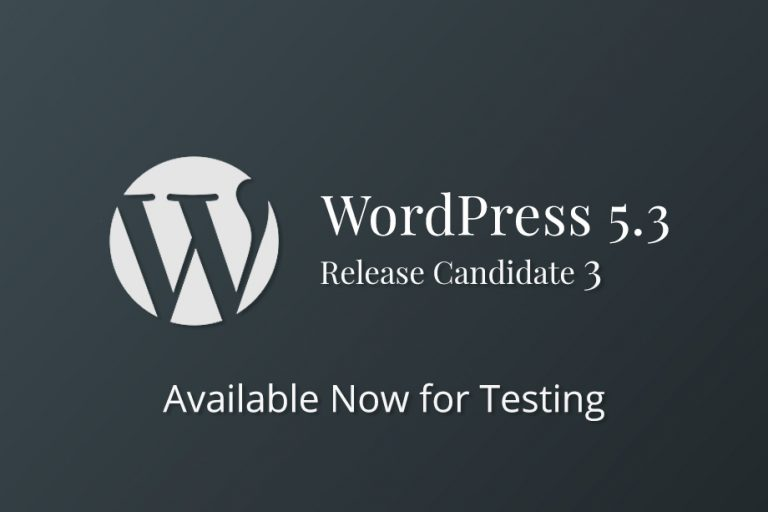 WordPress 5.3 Release Candidate 3
