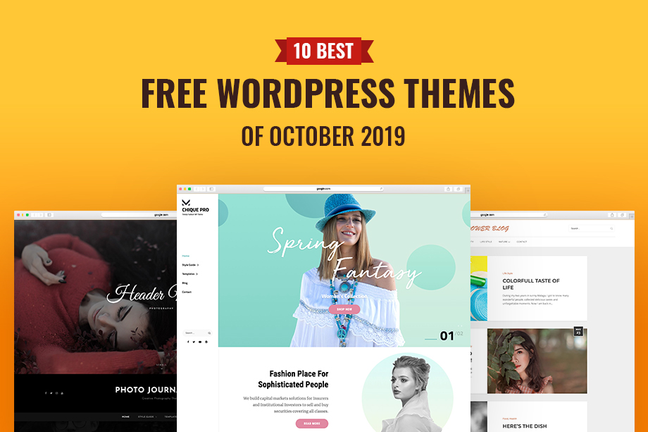 10 Best Free WordPress Themes of October 2019