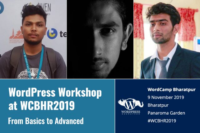 WordPress Workshop at WordCamp Bharatpur 2019 – From Basics to Advanced