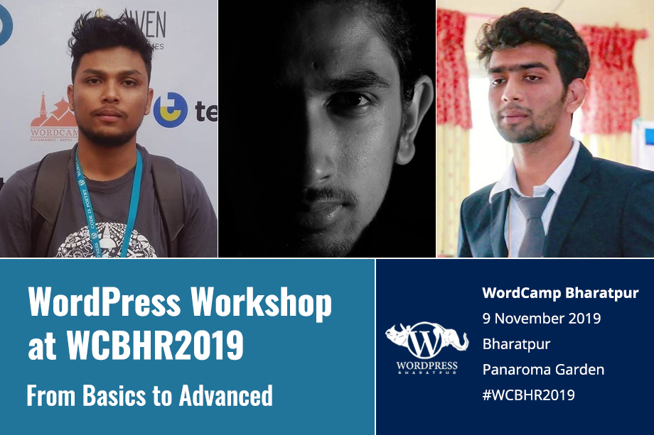 WordPress Workshop at WordCamp Bharatpur 2019