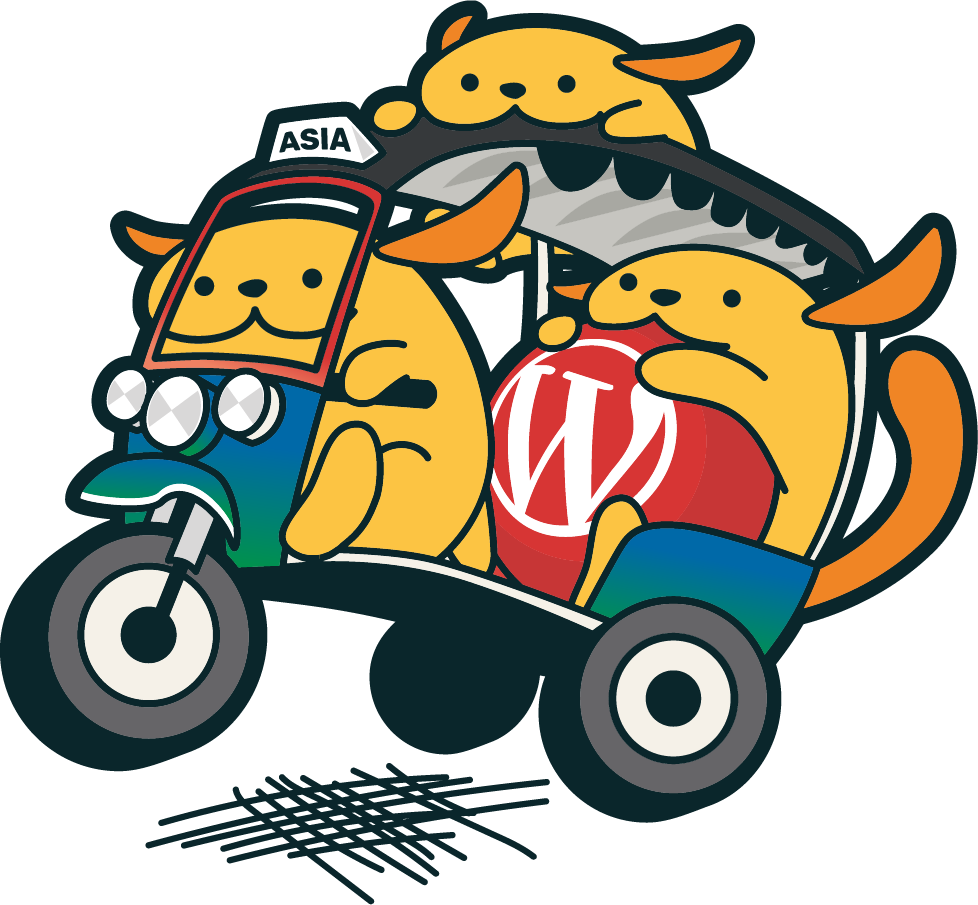 Tuk-tuk Wapuu - the official WordCamp Asia 2020 Mascot