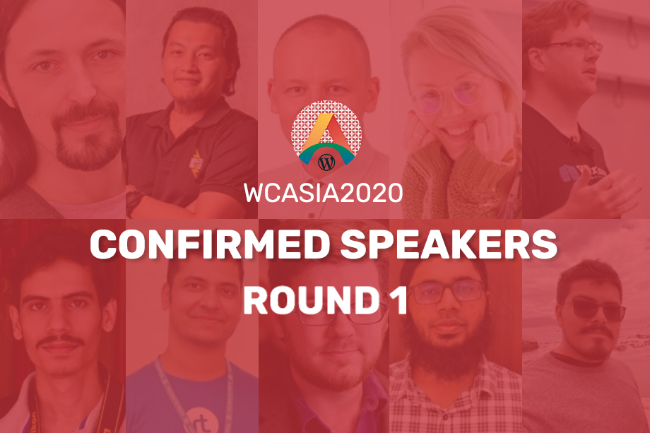WCASIA2020 Confirmed Speakers - Round One