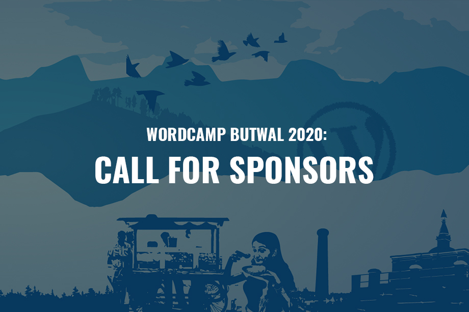 WordCamp Butwal 2020: Call for Sponsors