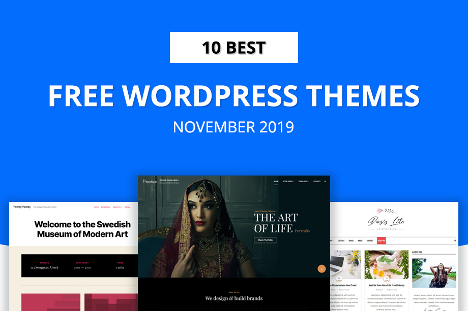10 Best Free WordPress Themes of November 2019