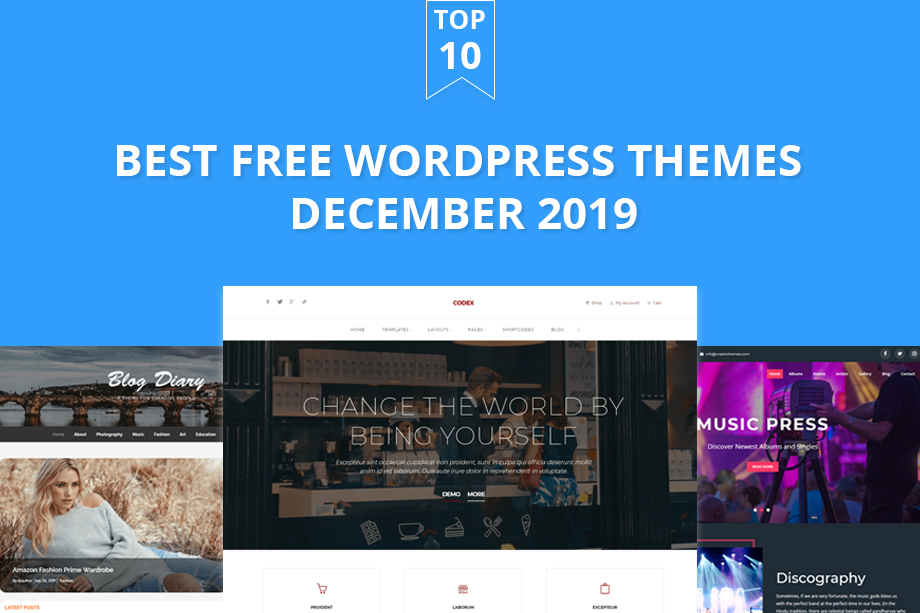 10 Best Free WordPress themes of December 2019