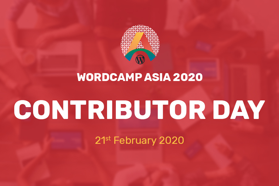 WordCamp Asia 2020 Contributor Day