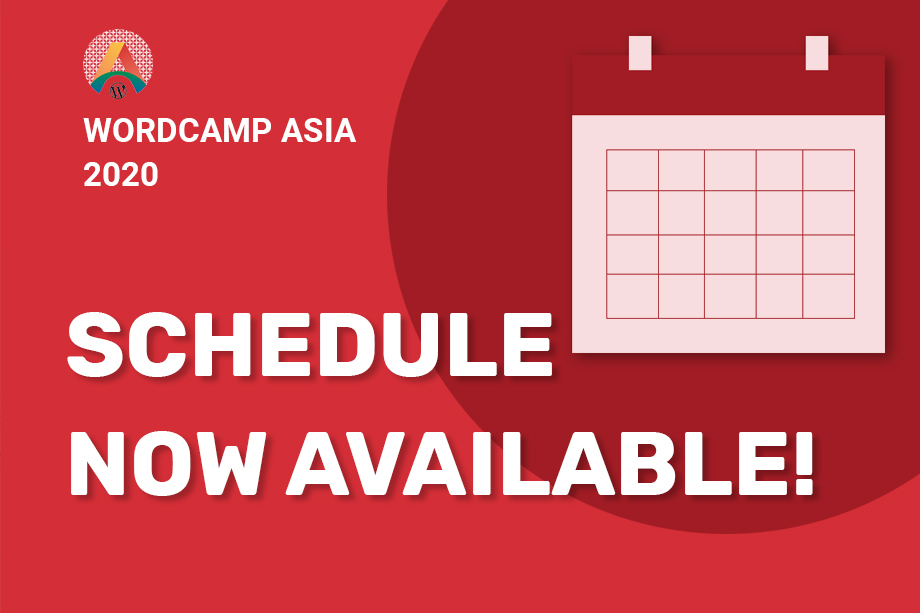 WordCamp Asia 2020 Schedule out Now!