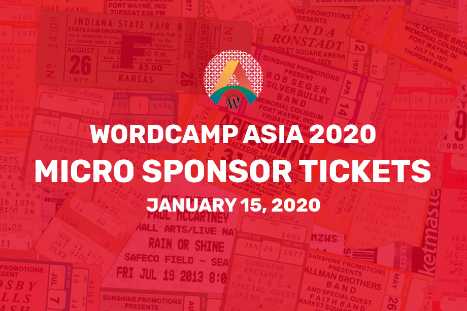 WordCamp Asia 2020 Tickets Micro Sponsor