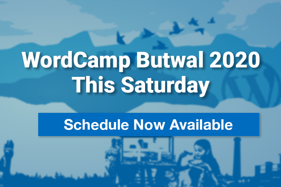 WordCamp Butwal 2020 is this Saturday