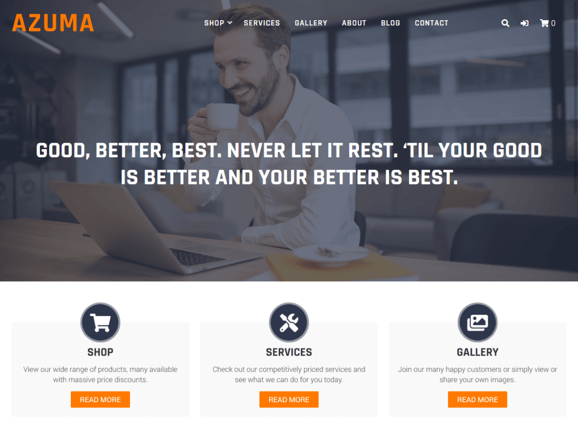 azuma - 10 Best Free WordPress themes of December 2019