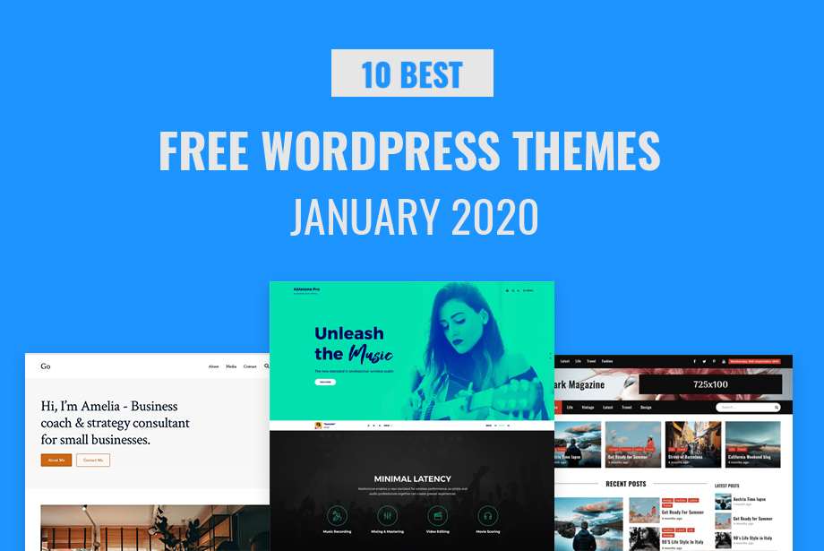 10 Best Free WordPress Themes of January 2020