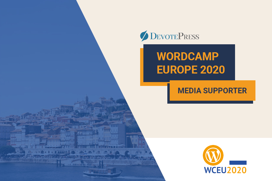 Supporting WordCamp Europe 2020 as an Official Media Supporter