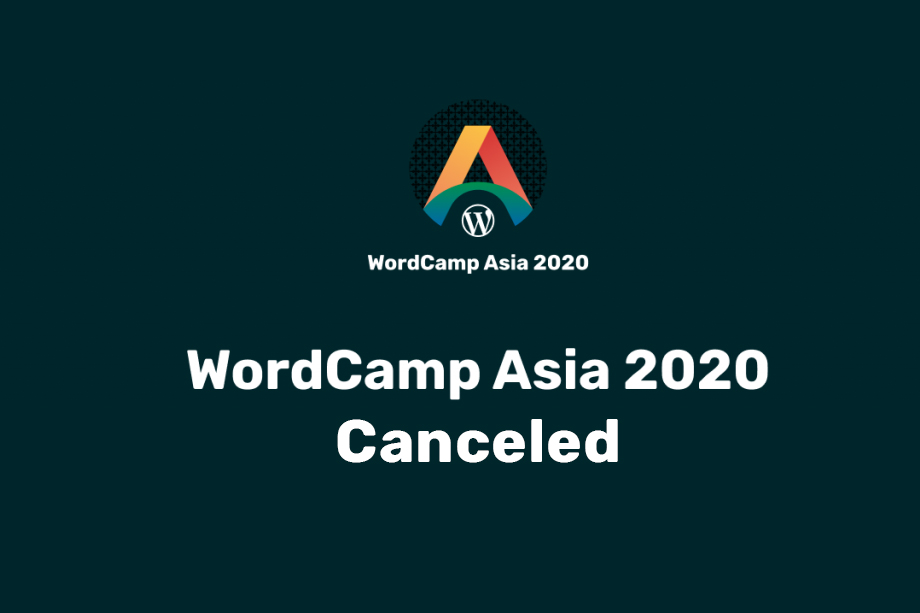 WordCamp Asia 2020 Canceled!