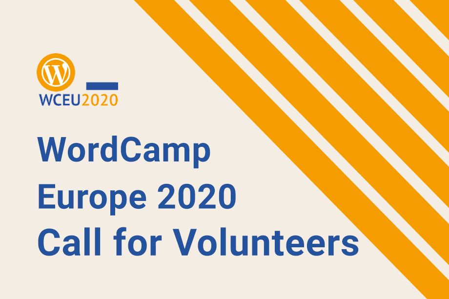 WordCamp Europe 2020 Call for Volunteers