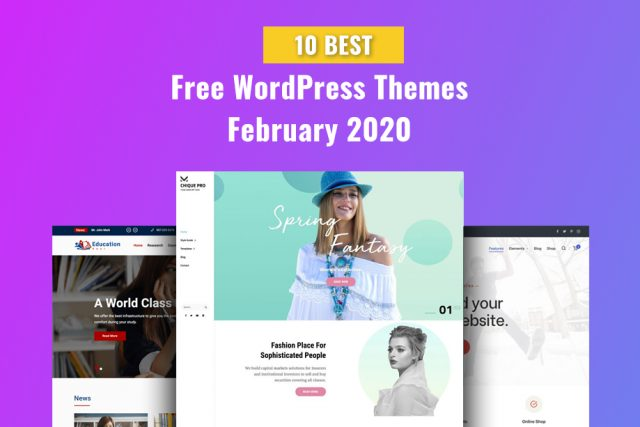 10 Best Free WordPress Themes of February 2020