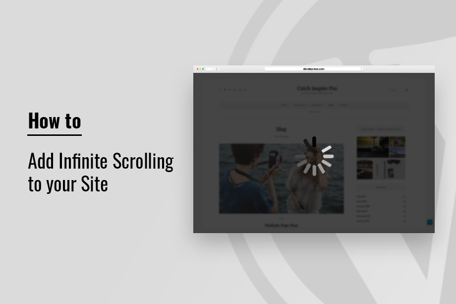 How to Add Infinite Scrolling to your site