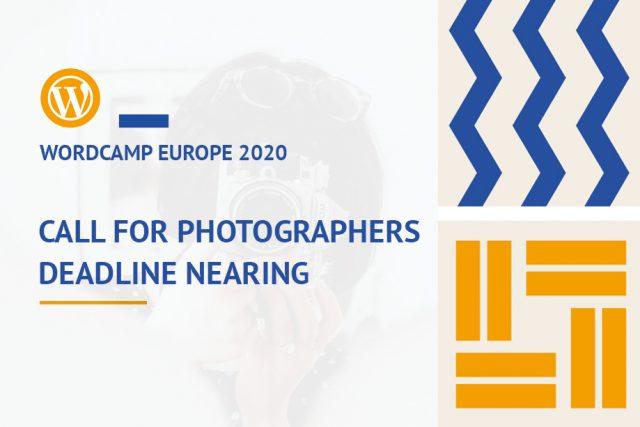 WordCamp Europe 2020: Call for Photographers Deadline Nearing