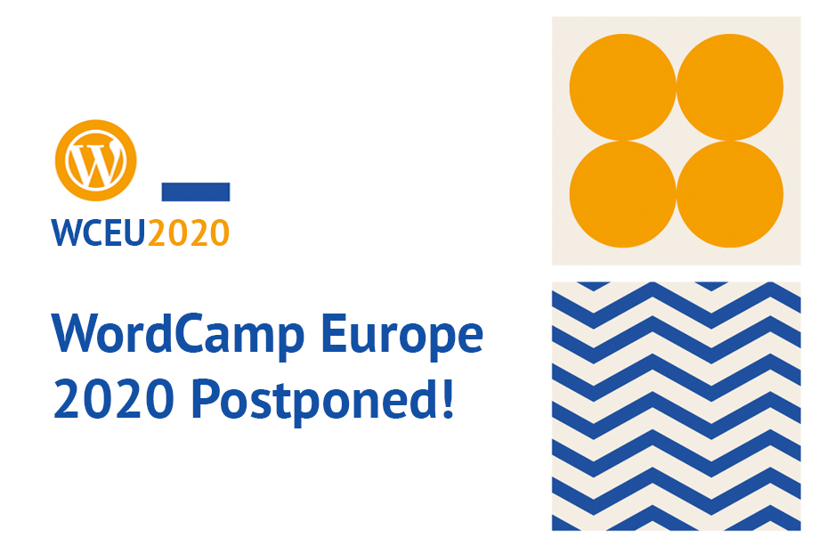 WordCamp Europe 2020 Postponed blog post