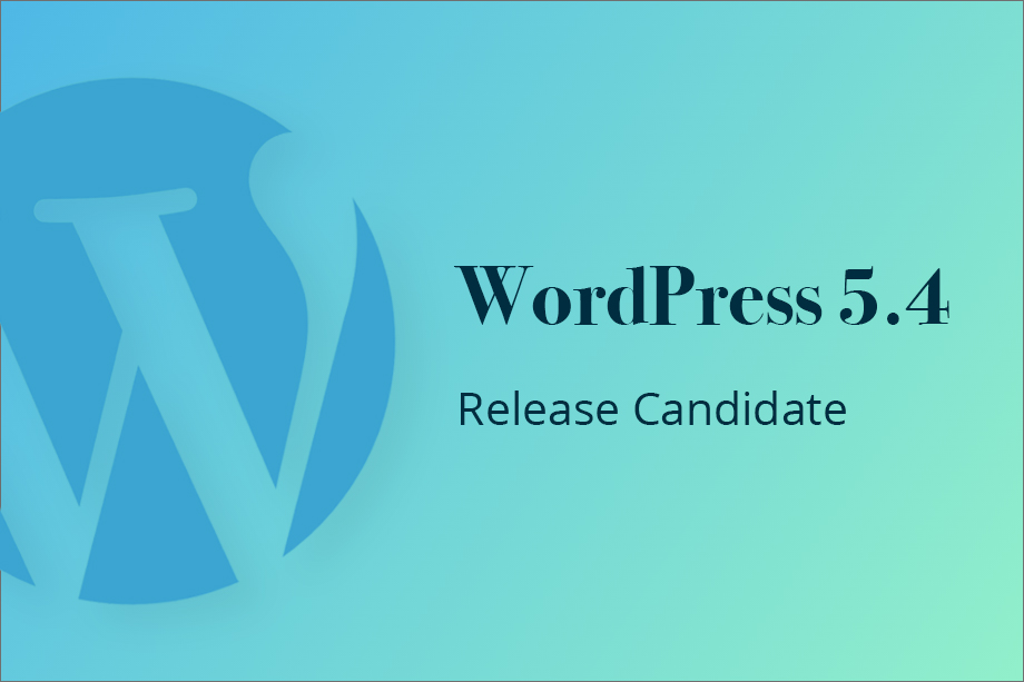 WordPress 5.4 Release Candidate