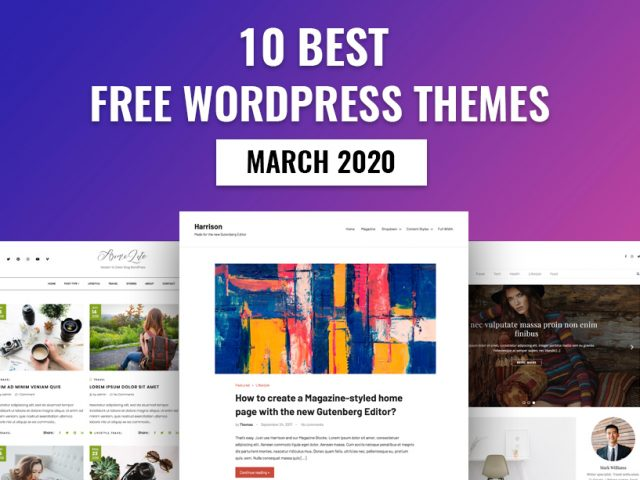 10 Best Free WordPress Themes – March 2020