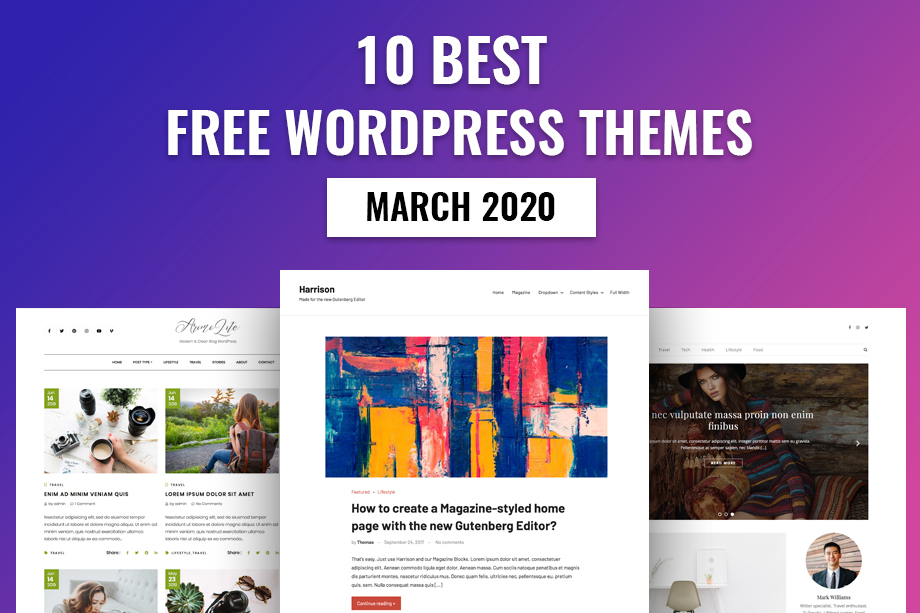 10 Best Free WordPress Themes – March 2020
