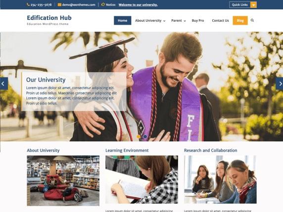 Edification Hub - Best Free WordPress Themes - March 2020