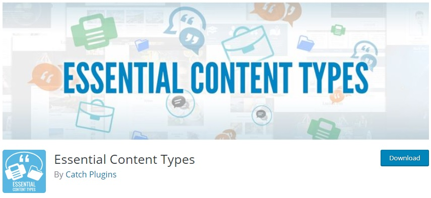 Essential Content Types - Best Free Custom Post Types Plugins