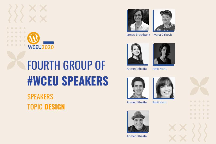 WordCamp Europe 2020 Online Confirmed Speakers- Design Group