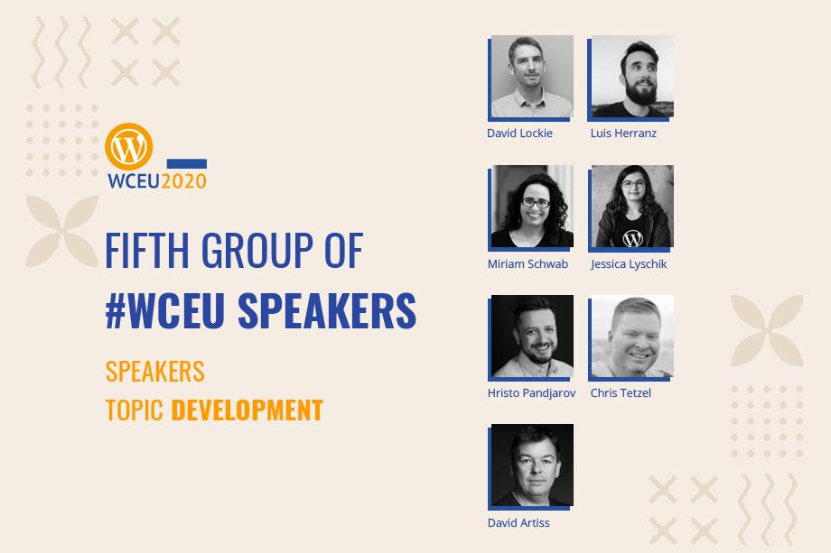 WordCamp Europe 2020 Online Confirmed Speakers- Development Group IGroup