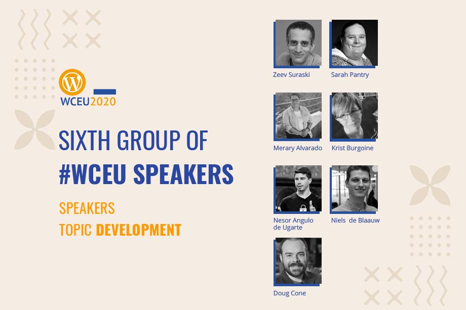 WordCamp Europe 2020 Online Confirmed Speakers- Development Group IIGroup