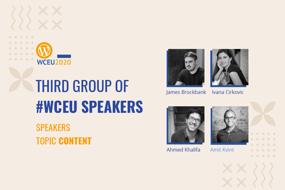 WordCamp Europe 2020 Online Confirmed Speakers- ContentGroup