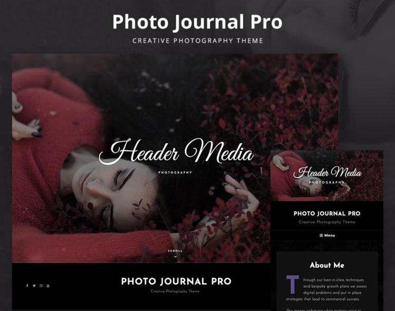 Photo JOurnal - The Ultimate Photography WordPress Theme