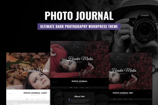 Photo Journal – The Ultimate Dark Photography WordPress Theme for 2020
