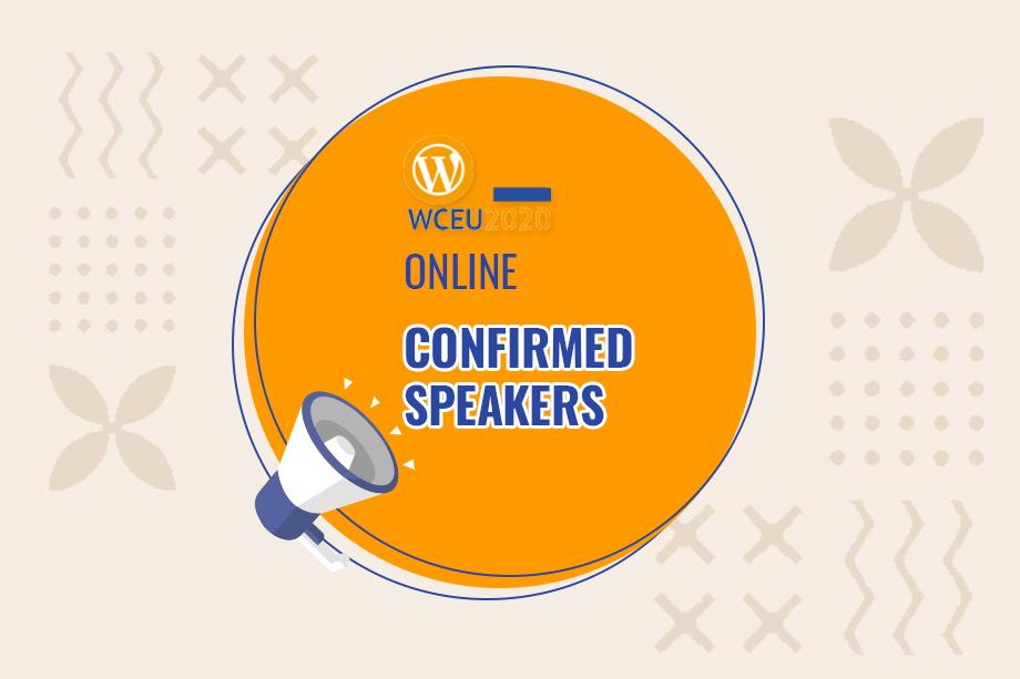 WordCamp Europe 2020 Online Confirmed Speakers