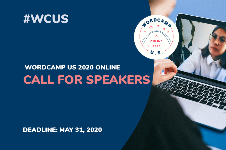 WordCamp US 2020 Online Call for speakers