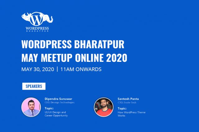 WordPress Bharatpur May Meetup 2020 Online