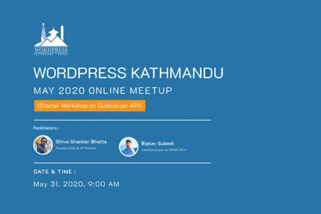 WordPress Kathmandu May Meetup 2020 (Online)