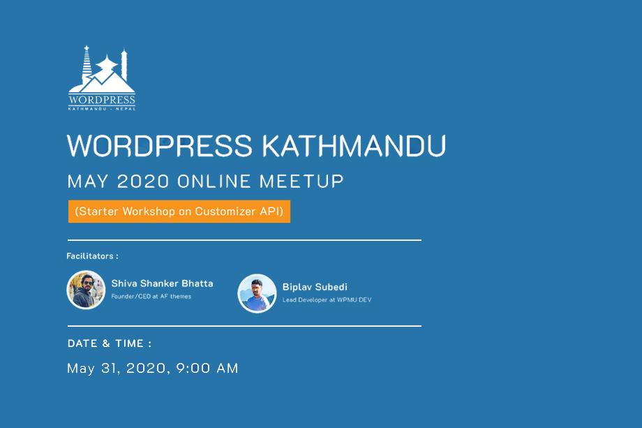 WordPress Kathmandu Ma Meetuo 2020 Online
