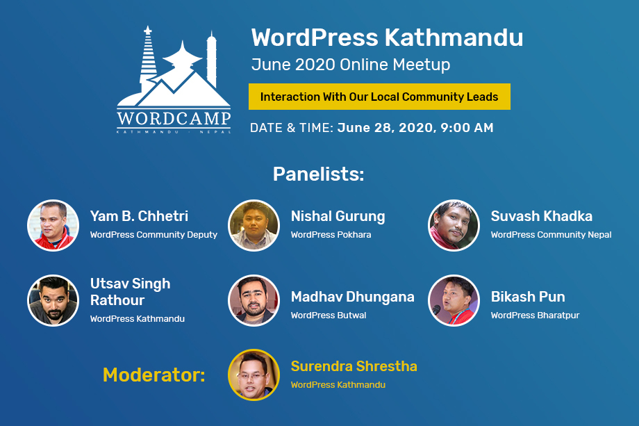 WordPress Kathmandu June Online Meetup 2020