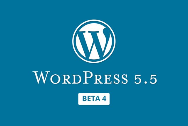 WordPress 5.5 Beta 4 Released