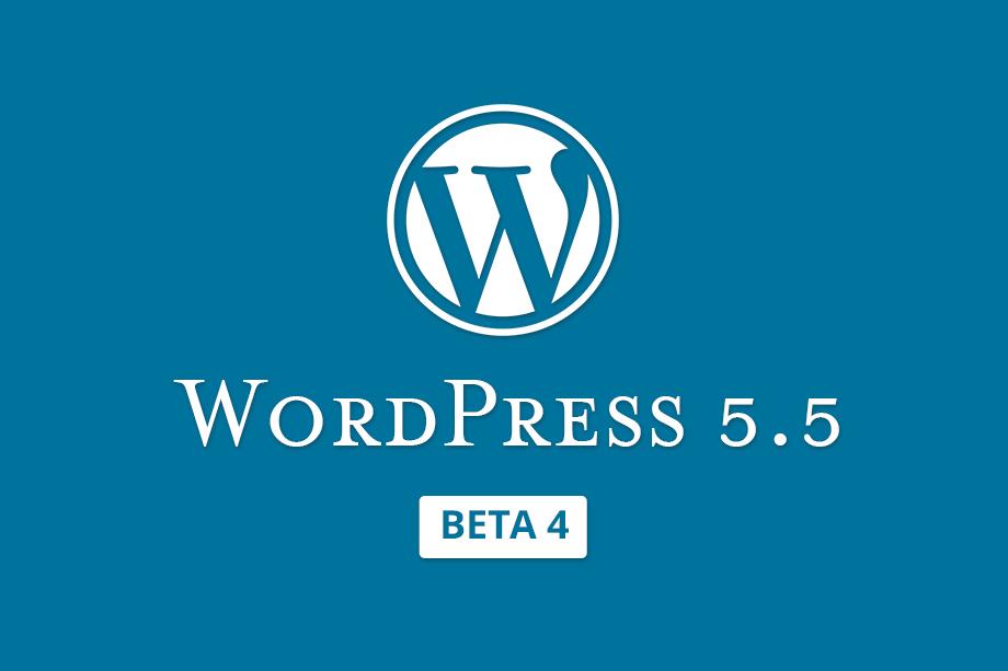 WordPress 5.5 Beta 4 Released