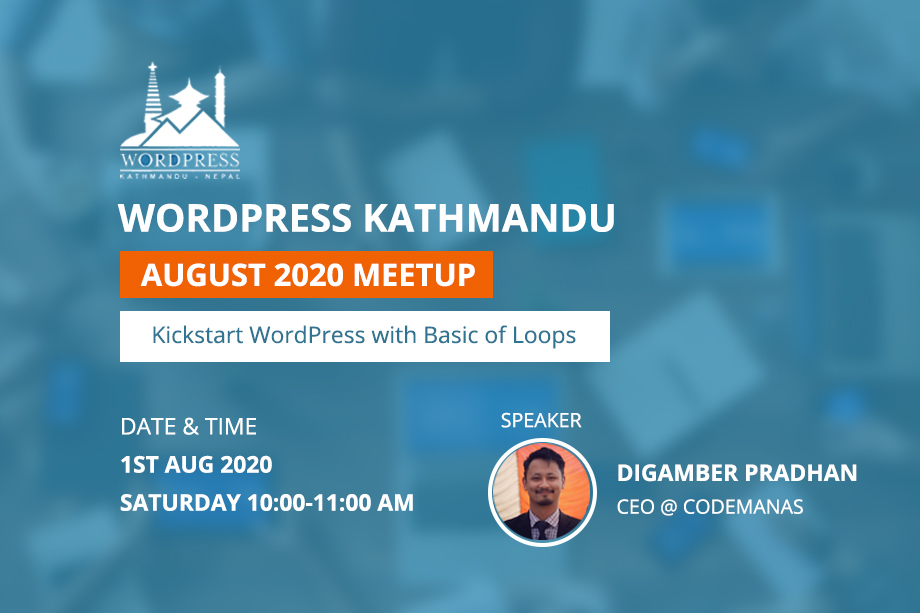 WordPress Kathmandu August Meetup 2020