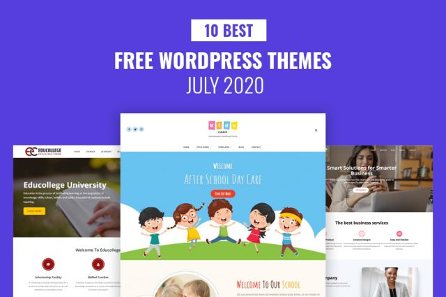 10 Best Free WordPress Themes – July 2020