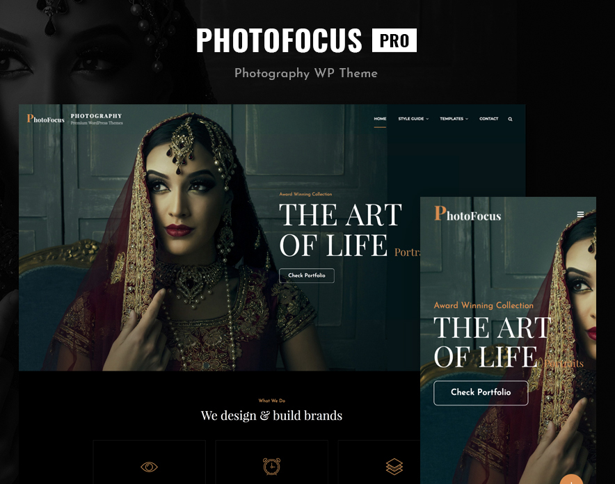 PhotoFocus Pro, best photography WordPress theme