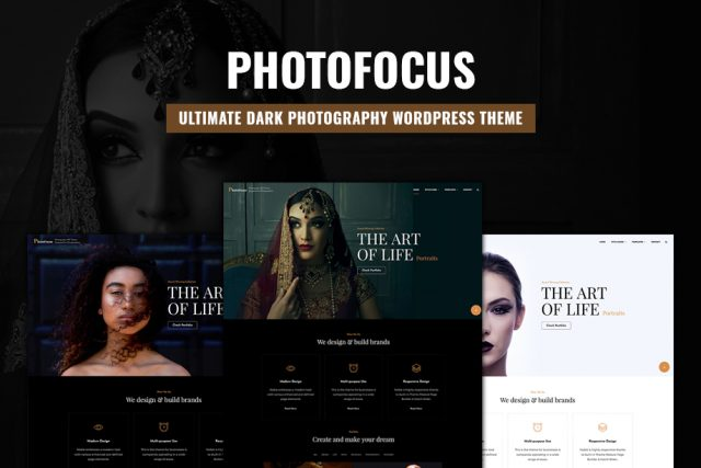 PhotoFocus, the Ultimate Dark Photography WordPress Theme for 2020