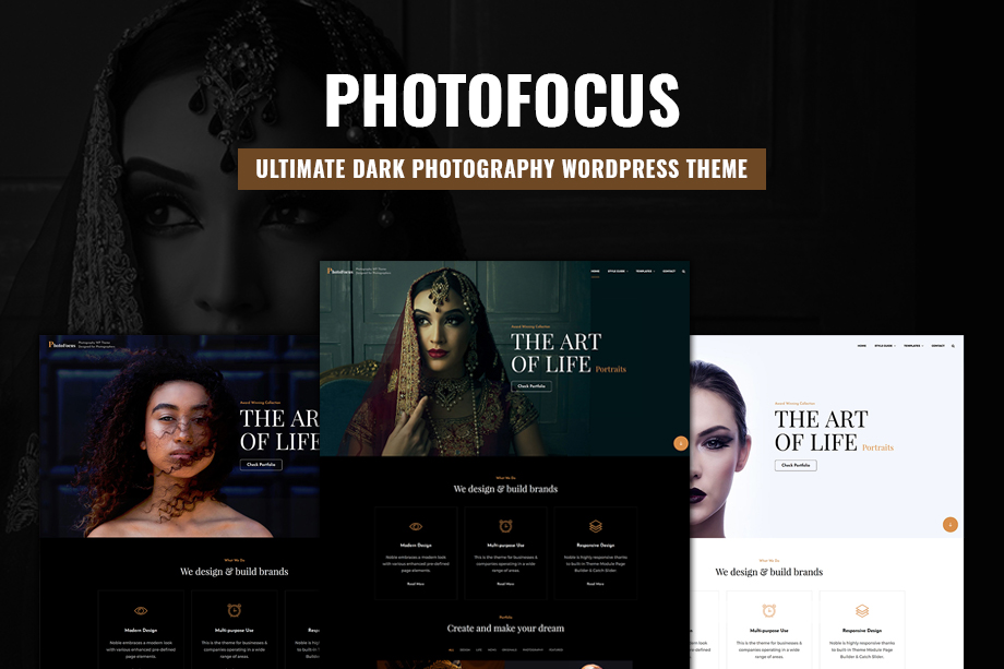PhotoFocus - The Ultimate Dark Photography WordPress Theme for 2020