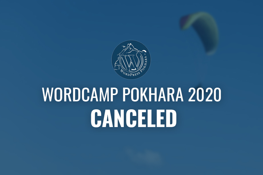 WordCamp Pokhara 2020 Canceled