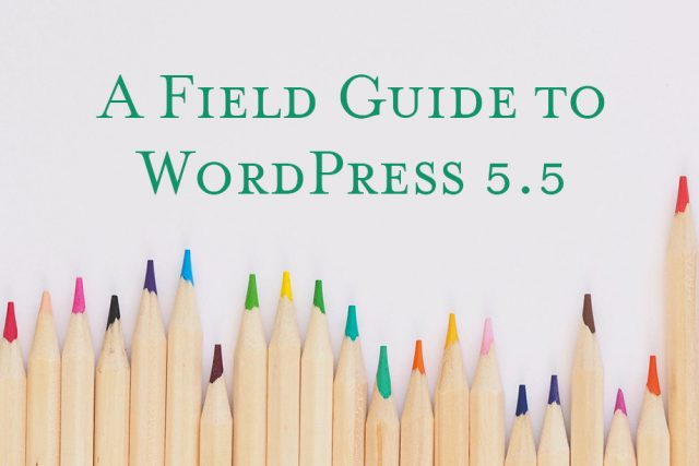 A Field Guide to WordPress 5.5